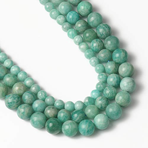 Yochus 6mm Amazonite Beads Round Loose Beads Natural Stone Beads for Jewelry Making