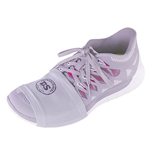 DIE DANCESOCKS Sneaker Socken zum Tanzen auf glatten Böden (2 & 4 Paar Packs) Lt. Grau
