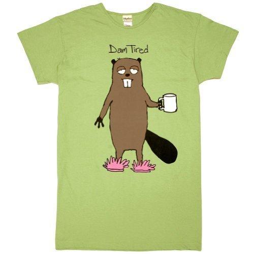 Tired Sleepshirt (Animal World - Dam Tired Women's Sleepshirt - One Size Green by NA)