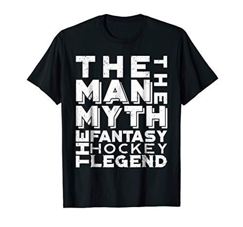 - Fantasy Hockey Shirt League Draft Team Player Man Legend