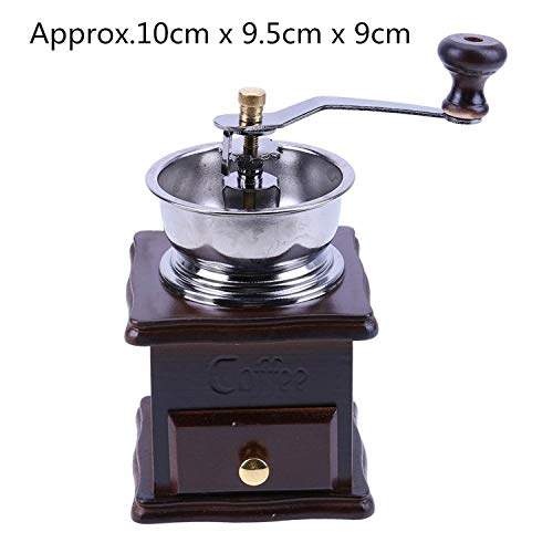 Portable Stainless Steel Hand Coffee Grinder Handmade Bean Pepper Spice Burr Mill Kitchen Grinding Tool for Home 2019 New,Light Grey