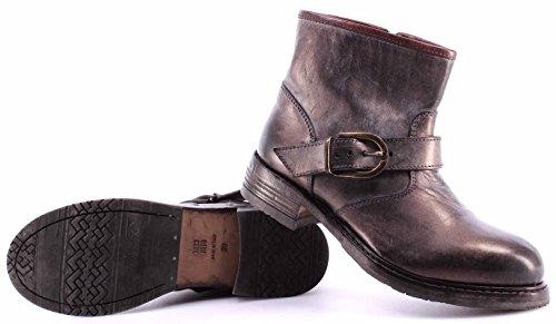 Zapatos Mujer Botines MOMA 80506-6D Ghost Cipolla Cuero Cebolla Vintage Made IT