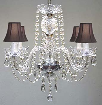 ALL CRYSTAL CHANDELIER CHANDELIERS WITH BLACK SHADES!
