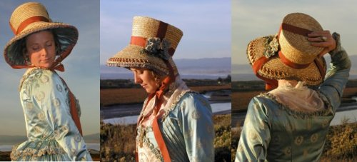 Early 19th Century Regency or Romance Era Seaside Bonnet Pattern ()