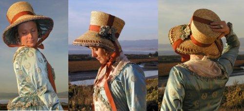 19th Century Fabrics - Early 19th Century Regency or Romance Era Seaside Bonnet Pattern