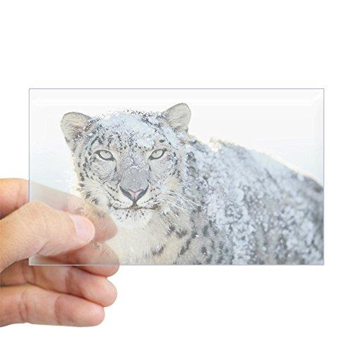 Sticker Clear (Rectangle) Snow Leopard HD (Tiger Leopard Apple)