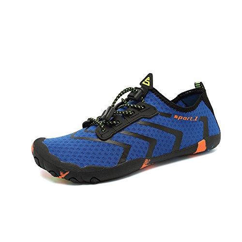 de Les 1 avec HooyFeel la de de Chaussures Drainage l'eau Rapide à des multifonctionnelle Chaussure de des Barefoot Plage bleu Sock Glissent Trous d'Aqua de Hommes séchage sur PwwdqF1