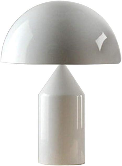 Lampada Da Tavolo A Fungo Nordico Nerobiancodorato