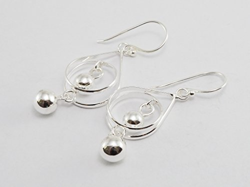 925-sterling-silver-earring-drop-dangle-dangling-hook-earrings-with-silver-balls-for-women-teen-girl