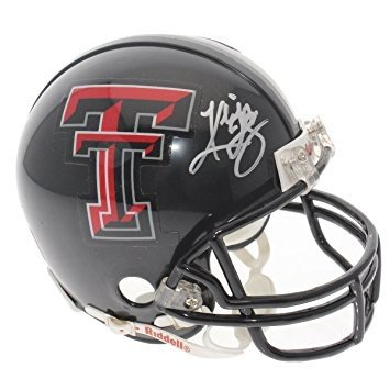 Kliff Kingsbury Autographed Texas Tech Red Raiders Riddell Black Mini Helmet - JSA Certified Authentic Autograph