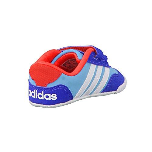Adidas Dino Crib, Zapatos de Primeros Pasos Unisex Bebé, Morado/Blanco/Rosa (Rosdes/Ftwbla/Rosimp), 18 EU