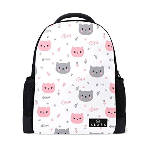 Cat Pheromone Diffuser Backpack Lightweight School Backpack, Classic Basic Casual Backpack, Travel with Bottle Side - Canine Hoodie Backpack Casual