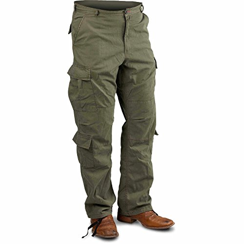 Olive Drab, X-Large Vintage Paratrooper Fatigue Pants, (39''-43'') by Rothco
