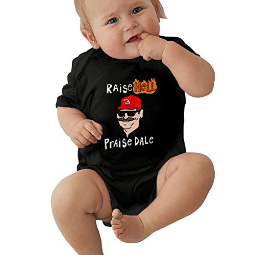 Moore Me Unisex Baby Onesie Bodysuit Gray Raise Hell Praise Dale Short-Sleeve Bodysuit for Boys and ()