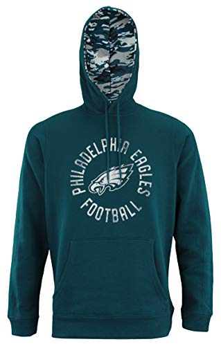 (Zubaz NFL Men's Team Camo Lined Pullover Hoodie, Philadelphia Eagles)