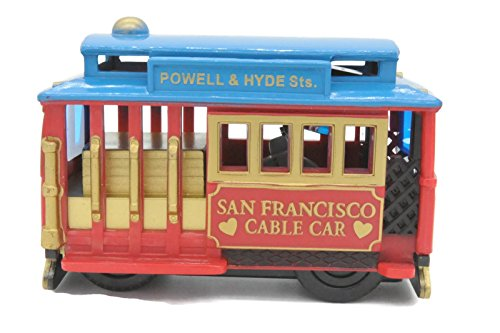 Price comparison product image (18 7 / 18) San Francisco RED Toy Cable Car Friction Roll With Copyrighted CA Bear Magnet