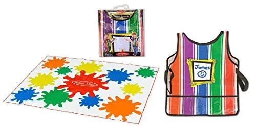 Melissa and Doug Drop Cloth and Artist Smock Bundle for age 3+ ()