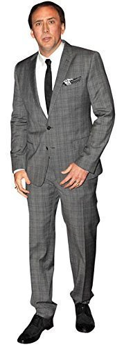 Nicolas Cage Small Cardboard Cutout, Celebrity Standup, Mini Standee, 61cm, 2ft by Celebrity Cutouts by Celebrity Cutouts