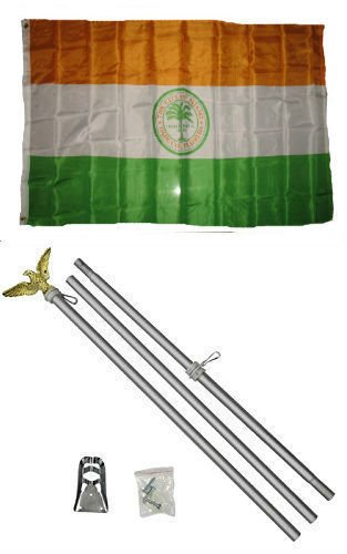 ALBATROS 3 ft x 5 ft City of Miami Florida Flag Aluminum with Pole Kit Set for Home and Parades, Official Party, All Weather Indoors Outdoors ()