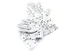 Michael Jackson Costume Sparkling Sequin Gloves