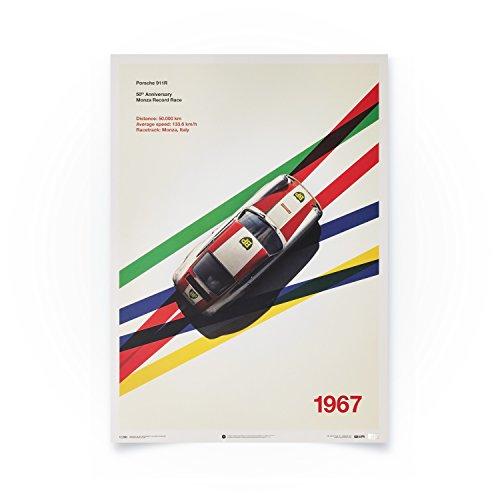 (Automobilist Store Porsche 911R - Monza - Unique Design Limited Edition Poster - Standard Poster Size 19 ¾ x 27 ½ Inch)