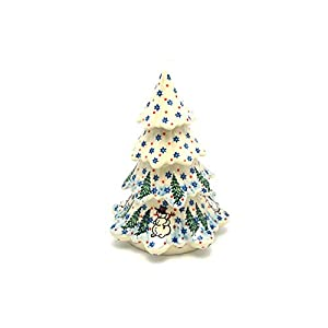 Polish Pottery Christmas Tree – Large (7 1/2″) – Unikat Signature – U4661