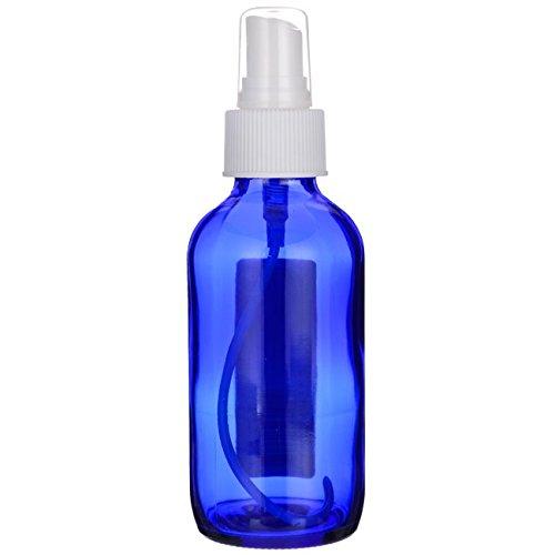 Lotus Brands Blue Glass Bottle with Spray 4 oz Unit