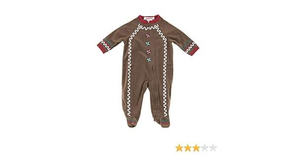 d0280dbe72 Amazon.com  Pajamarama Baby Boys  Christmas Gingerbread Man Footed Pajamas   Clothing