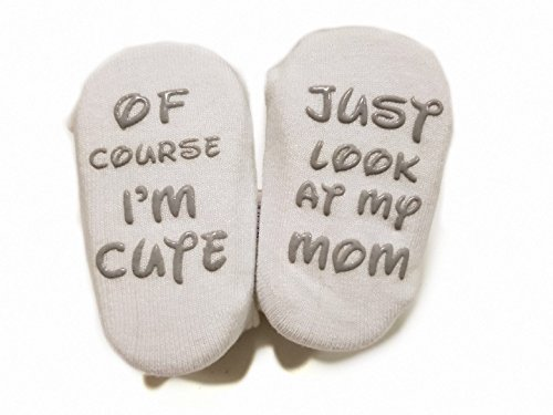 Baby Socks Gift Set - Unique Baby Shower or Newborn Present | Cute Quotes 4 Pair 0-12 Mnths by TWiNKLeToeS (Image #6)