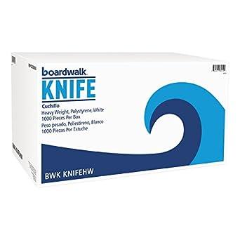 Boardwalk KNIFEHW Heavyweight Polystyrene Cutlery, Knife, White (Case of 1000)