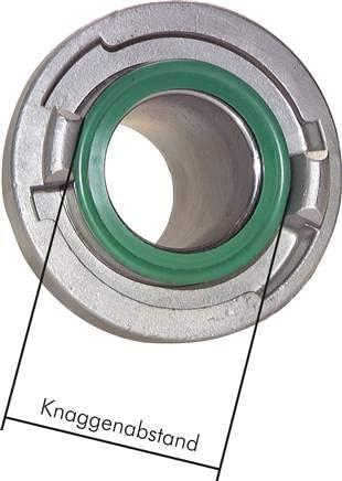 IG 25-D geschmiedet Storz-Kupplung G 1 Aluminium Werkstoff:Aluminium geschmiedet