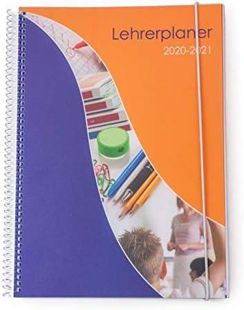 SPc Verlag - A5 Lehrerplaner - Lehrerkalender mit Spiralbindung und Klarsichtmappen - Auflage 2020-2021