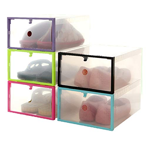 MoMA VINAShoes Storage Box Foldable Stackable Clear Plastic Drawer Case Organizer Box Holder Shoe Storage Dropshipping R30