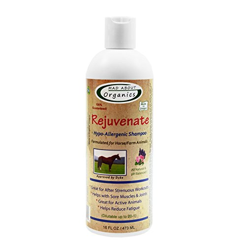 Mad About Organics All Natural Horse/Farm Animal Rejuvenate Hypo-Allergenic Shampoo 16oz by Mad About Organics (Image #3)