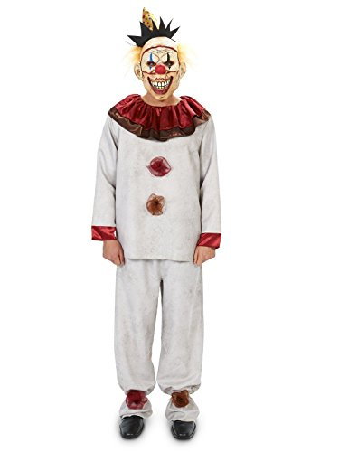 Scary the Carnival Clown with Mask Adult Costume XL