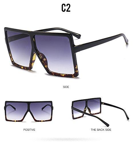 sol gafas enormes Unas C2 de plazas TL degradado sol de hombres C6 Lentes tan UV400 Gafas Sunglasses mujer mujer tonos tpwxfX