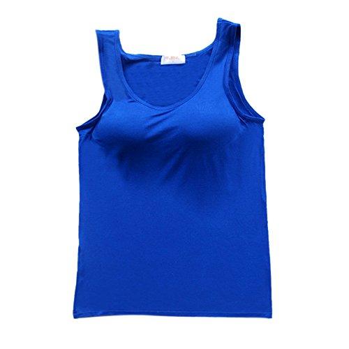 BIFINI - Camiseta sin mangas - para mujer Azul