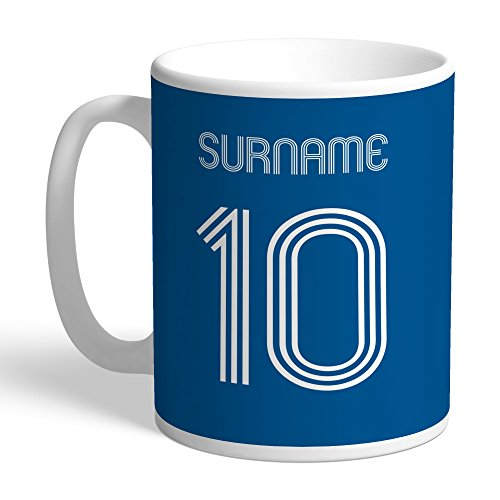 Leeds United Official Personalized FC Retro Shirt Mug - Free Personalisation