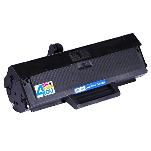 Ink & Toner 4 You ® Compatible Black Laser Toner Cartridge for Samsung MLT-D104S 104S Works With Samsung ML-1660 ML-1660K ML-1660N ML-1661 ML-1665 ML-1667 ML-1670 ML-1675 ML-1865 ML-1865W ML-1666 SCX-3200 SCX-3205 SCX-3205W Series Laser Printers - 1,500
