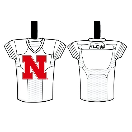 Team Sports America University of Nebraska Personalizable Jersey Ornament with Team Color Markers