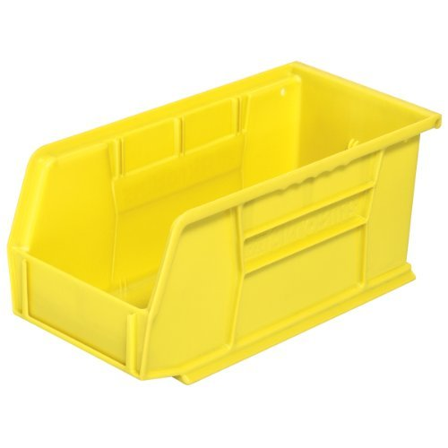 Akro-Mils 30230 Plastic Storage Stacking Hanging Akro Bin, 11-Inch by 5-Inch by 5-Inch, Yellow, Case of 12 by Akro-Mils by Akro-Mils