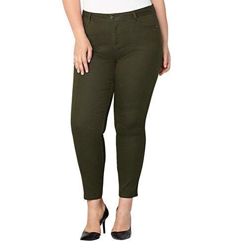 -AVENUE Women's Butter Denim Skinny Jean in Olive, 18 Olive