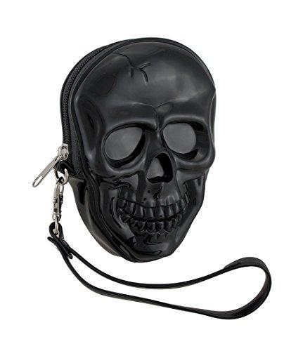 Glossy Black Molded Skull...