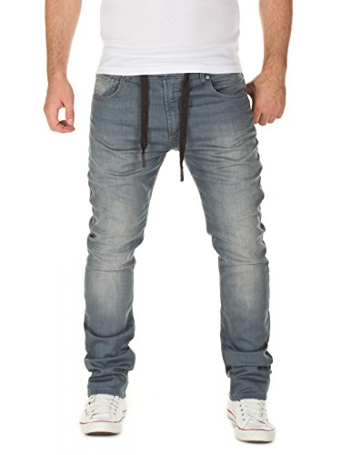 WOTEGA Men's Sweatpants in Jeans-Look Noah Slim, Grey for sale  Delivered anywhere in USA