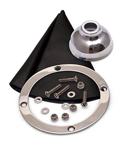 American Shifter 506557 TH200 Shifter 10 Trim Kit CHR Push Btn Cap BLK Boot Billet Knob for EFD7C