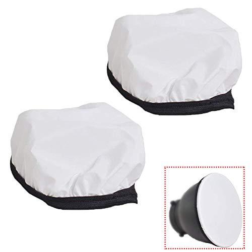 (YUOCU8 inches /21cm Soft White Diffuser Sock for Photo Studio Standard Monolights Strobe Reflector-2 Pack (8 inch))