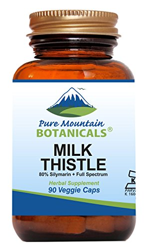 Milk Thistle Capsules - 90 Kosher Vegan Caps Now with Organic Milk Thistles and Potent Silymarin Extract
