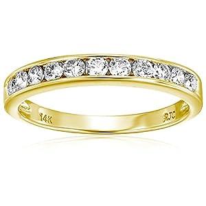 1/2 cttw Certified I1-I2 14K Classic Diamond Wedding Band (I-J Color)
