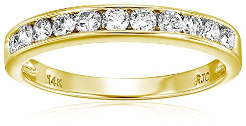 - Vir Jewels 1/2 cttw Classic Diamond Wedding Band in 14K Yellow Gold In Size 7