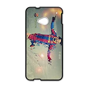 Sports messi barcelona HTC One M7 Cell Phone Case Black gift pjz003-9342685